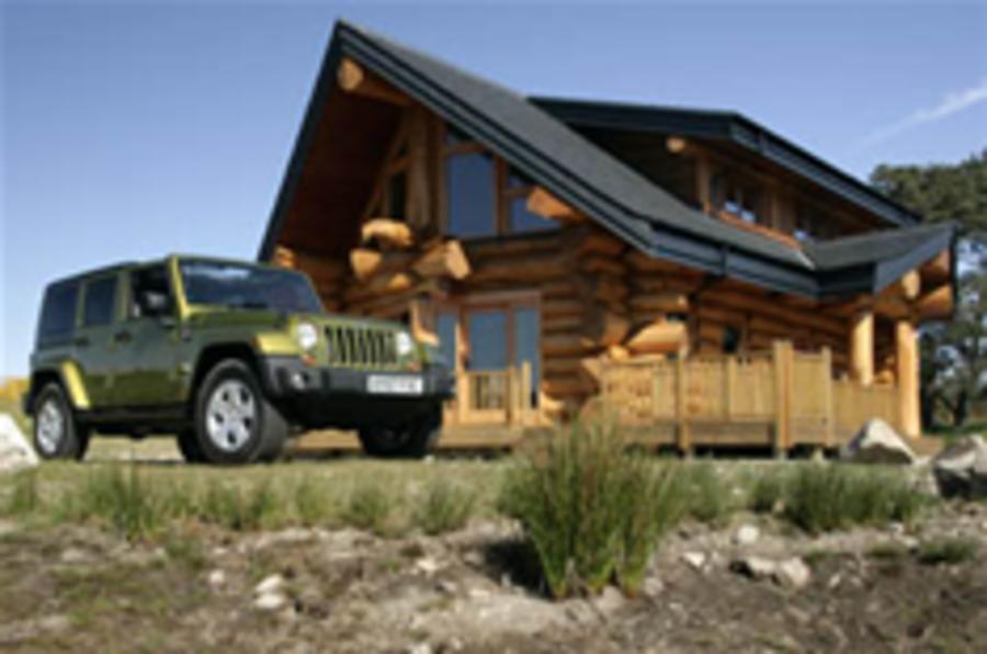 Buy a log cabin, get a Jeep free