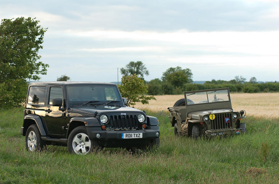 Old and new Jeep Wrangler