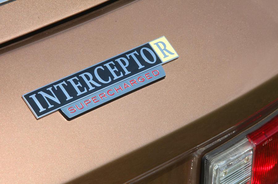 Jensen Interceptor R Supercharged badge