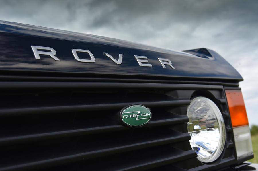 JIA Chieftain Range Rover badging