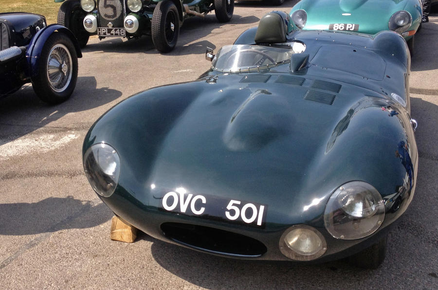 Driving the Jaguar D-type at Goodwood