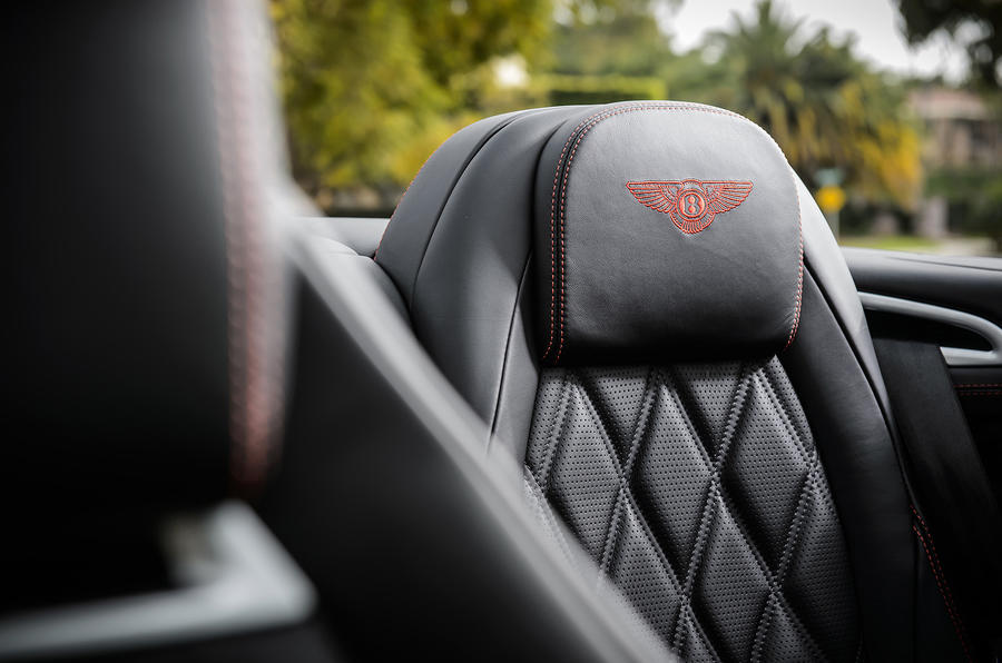 Bentley stitched seats