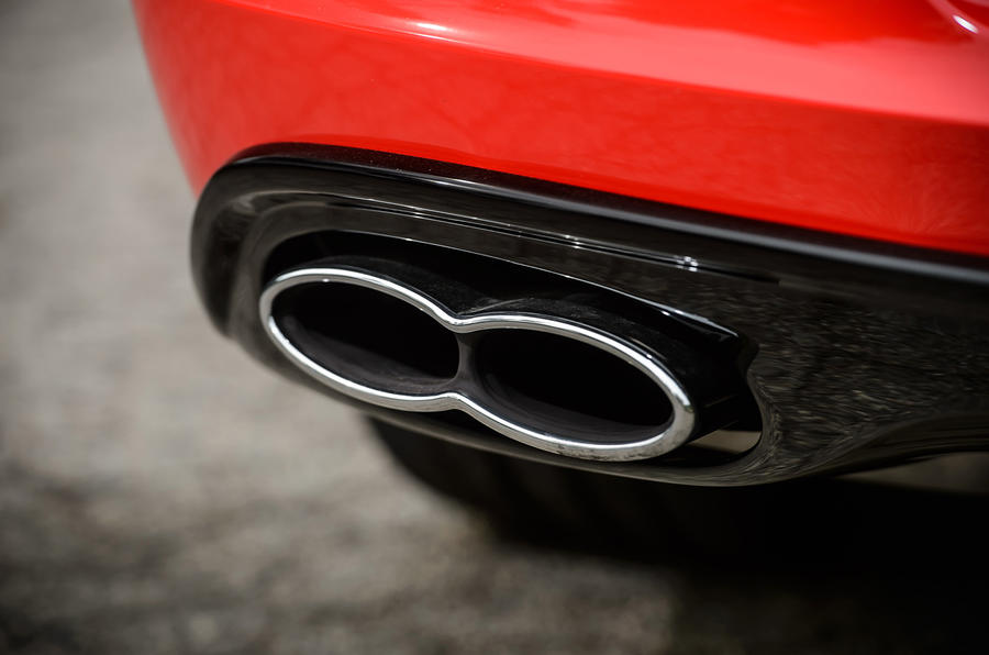 Bentley Continental GT quad exhaust