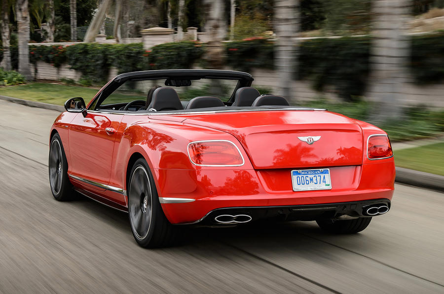 Bentley Continental GTC V8 S rear