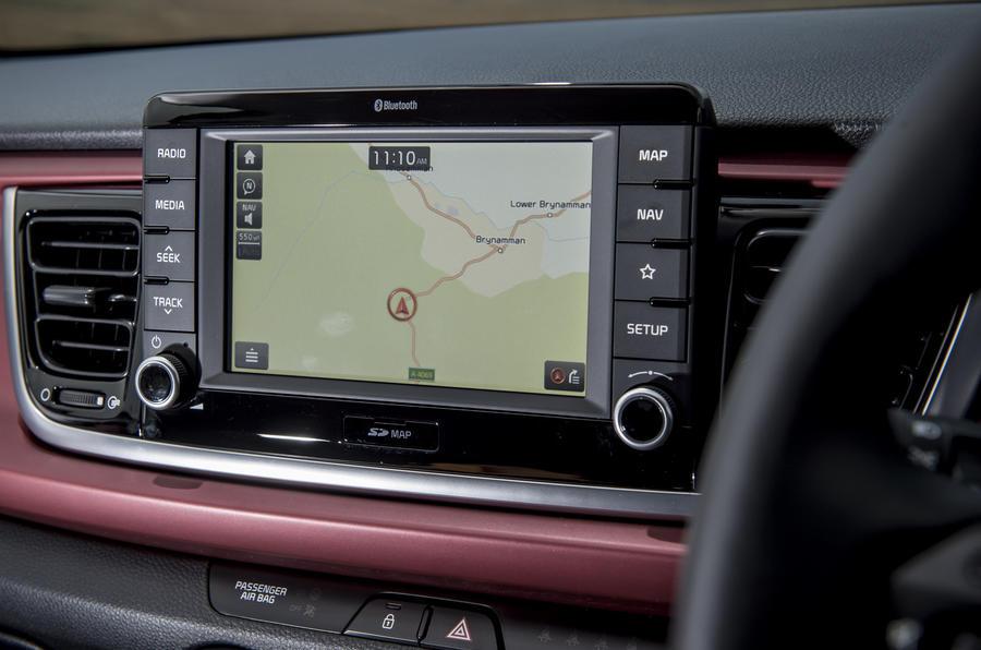 Kia Rio infotainment system