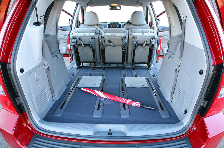 Kia Sedona boot space