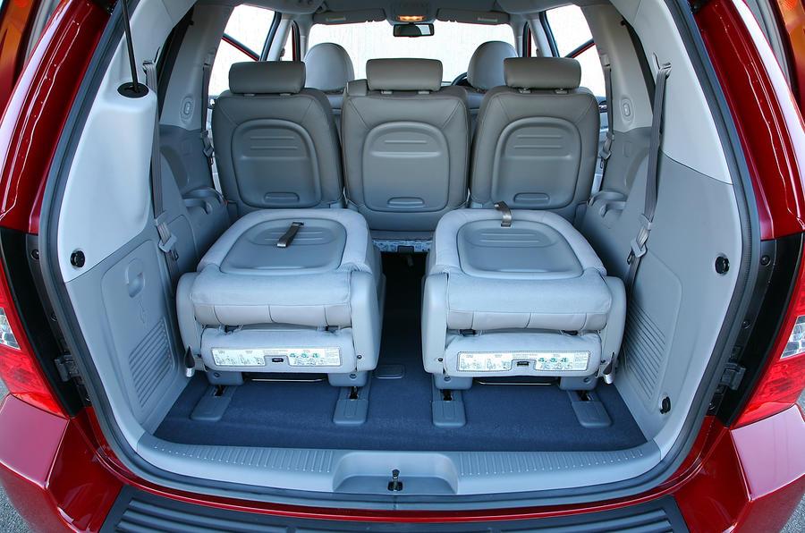Kia Sedona seat flexibility