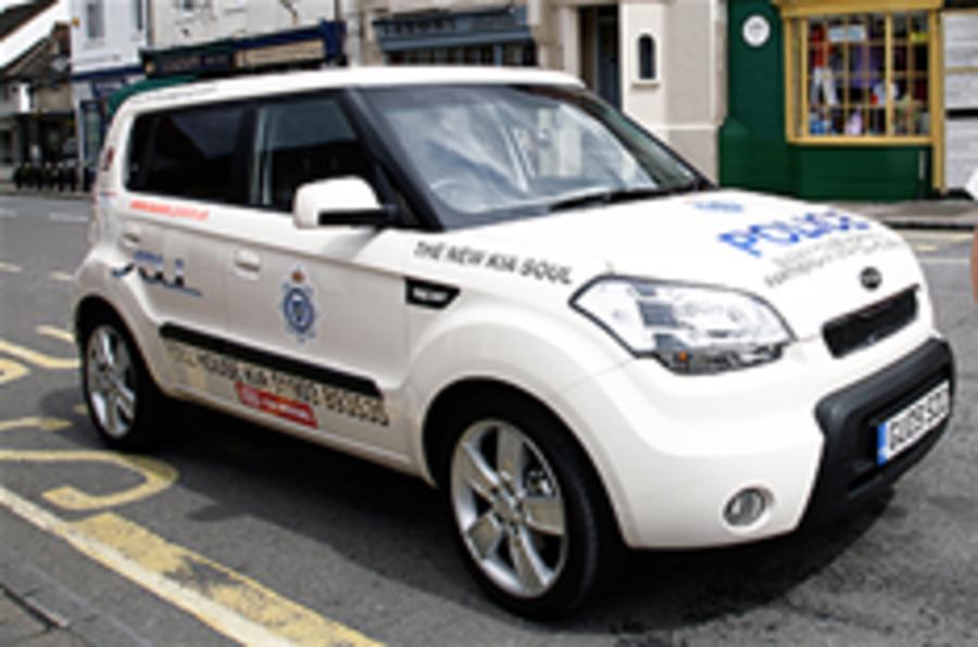 Kia Soul police car