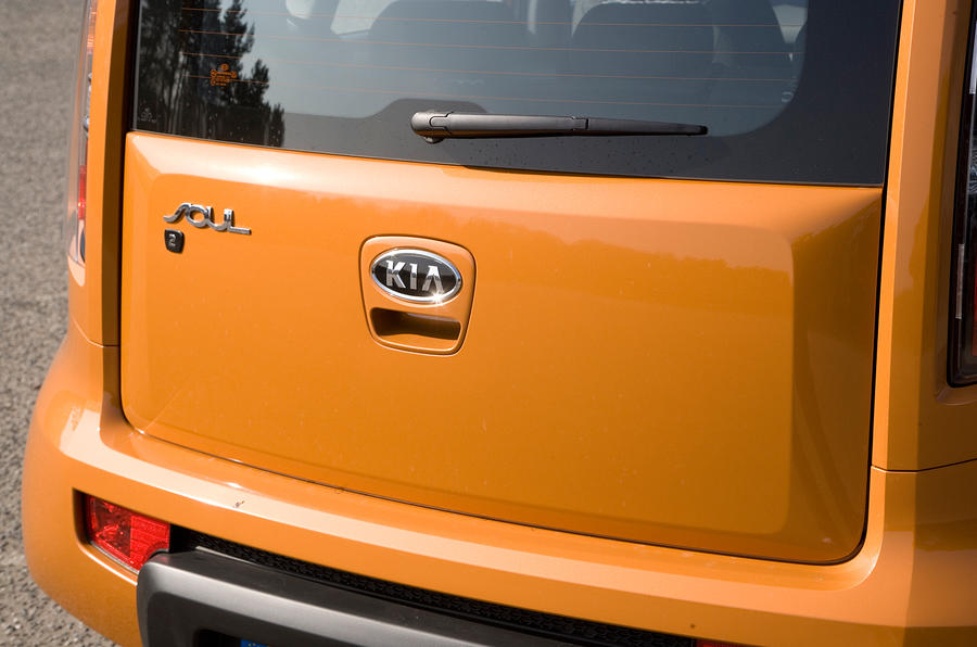 Kia Soul upright tailgate
