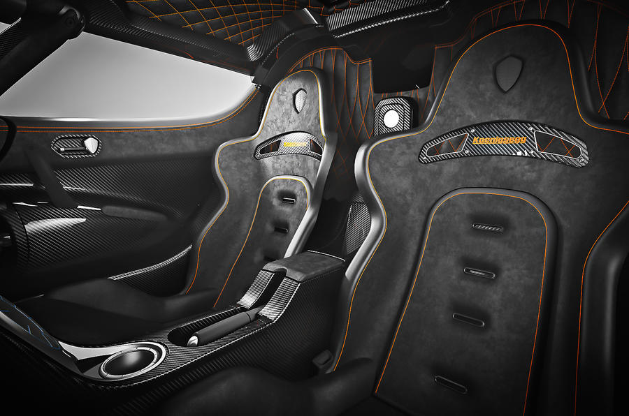 Koenigsegg One:1 sport seats