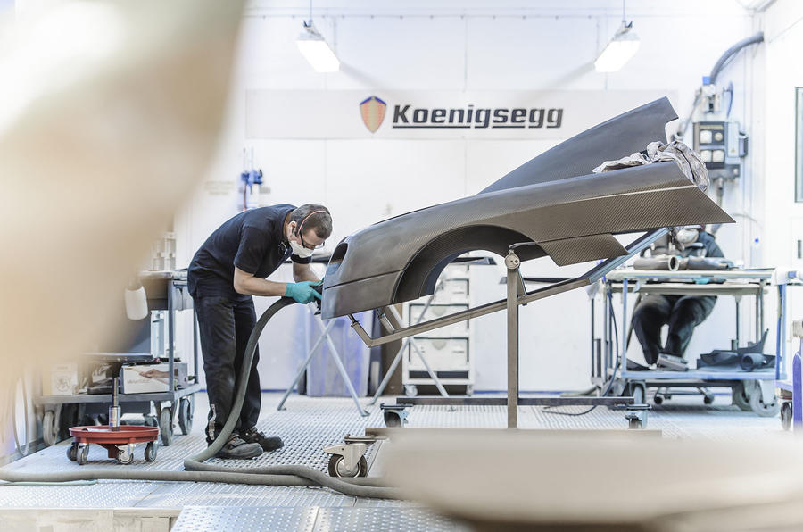 Carbonfibre Koenigsegg One:1 body panels