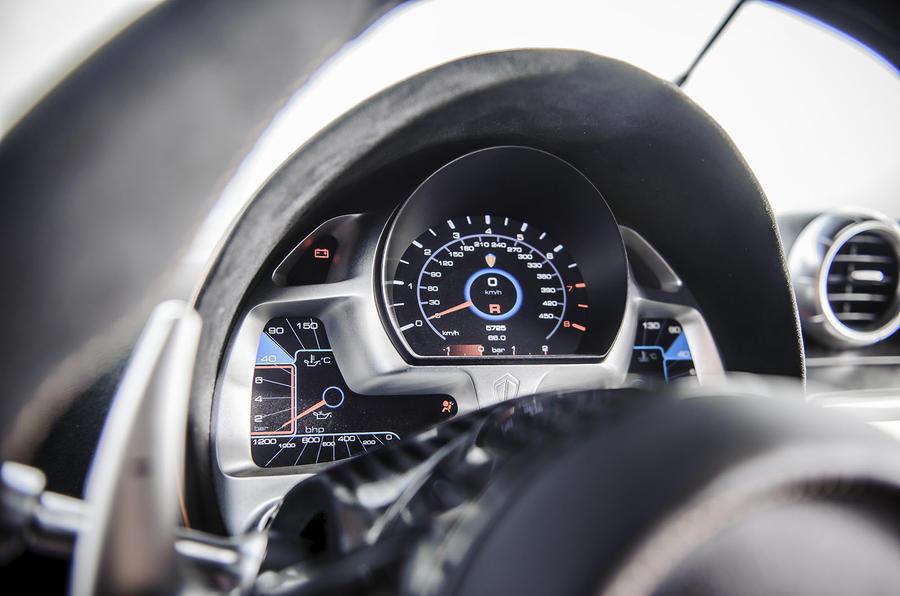 Koenigsegg One:1 instrument cluster