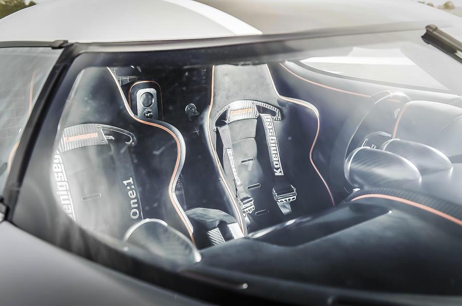 Koenigsegg One:1 driver's cockpit