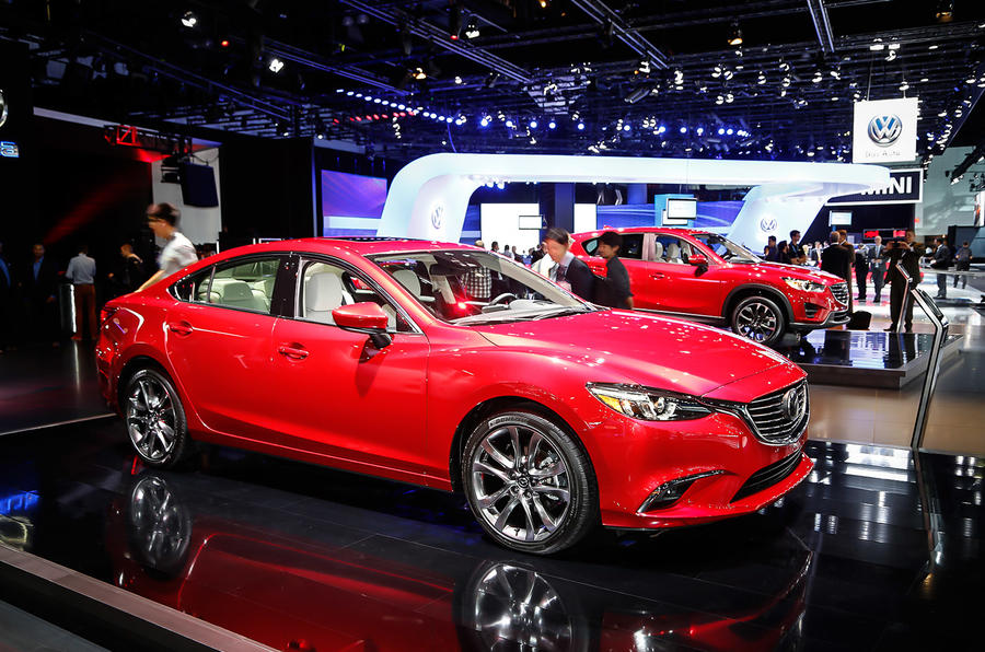 Facelifted Mazda 6 on display in LA