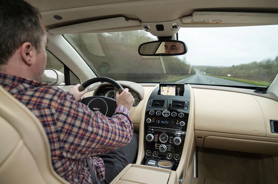 Lagonda Taraf's driver's view