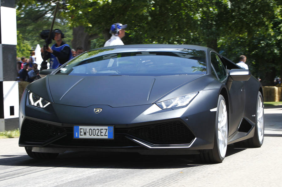 Tackling Goodwood's famous hill climb in a Lamborghini Huracan
