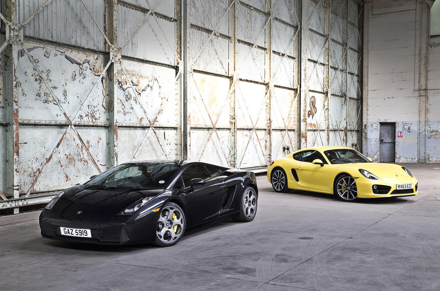 New versus used: Porsche Cayman S or Lamborghini Gallardo