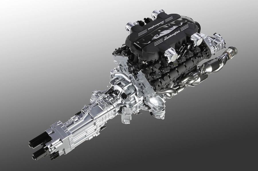 Lambo's new V12 in detail