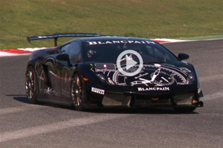 Lambo Super Trofeo test - video