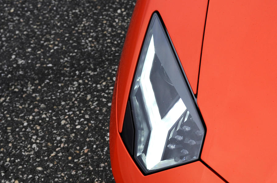 Lamborghini Aventador Y-shaped headlights