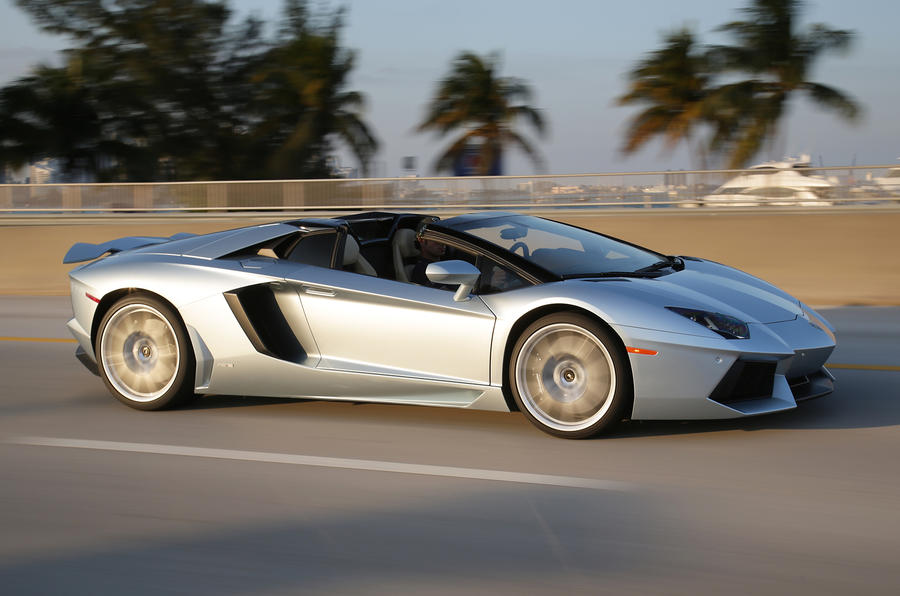 Lamborghini Aventador Roadster side profile