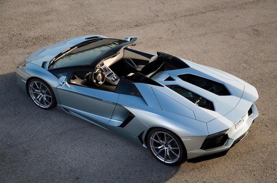 Lamborghini Aventador Roadster rear view