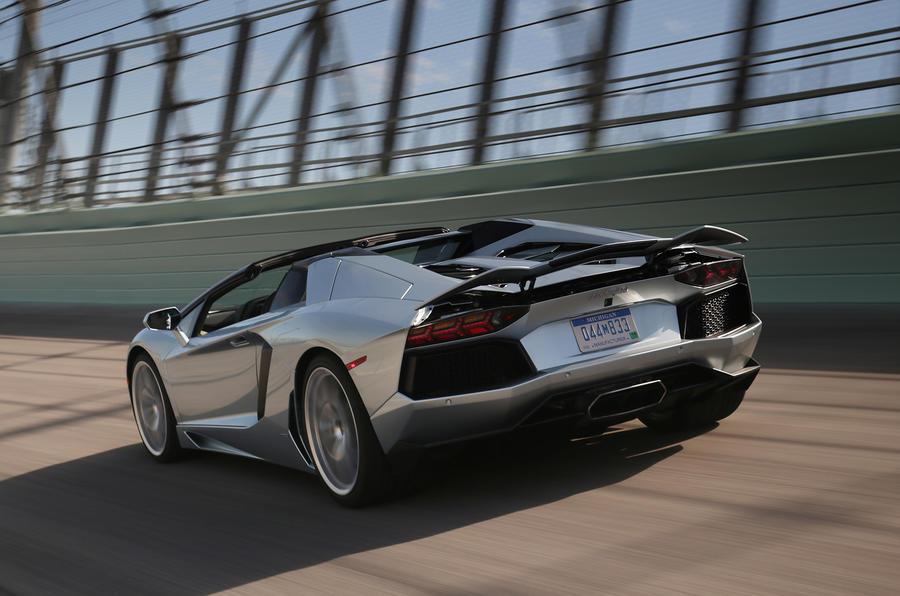 Lamborghini Aventador Roadster rear