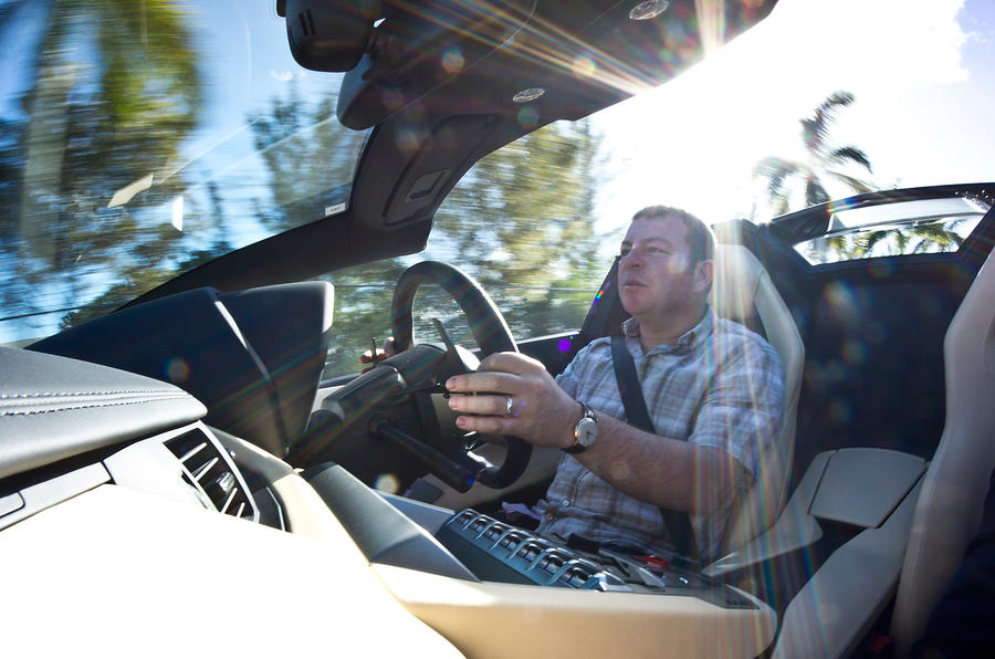 Driving the Lamborghini Aventador Roadster