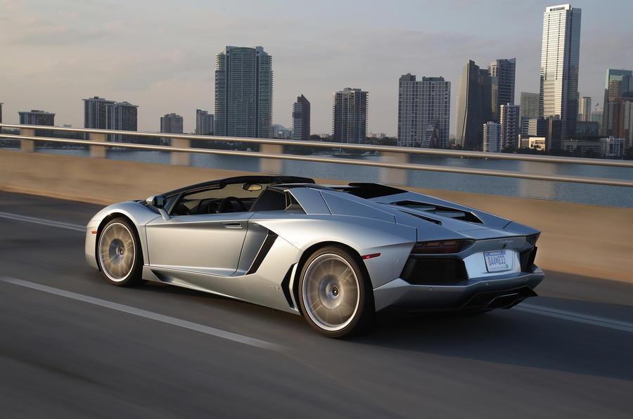 Lamborghini Aventador Roadster rear quarter