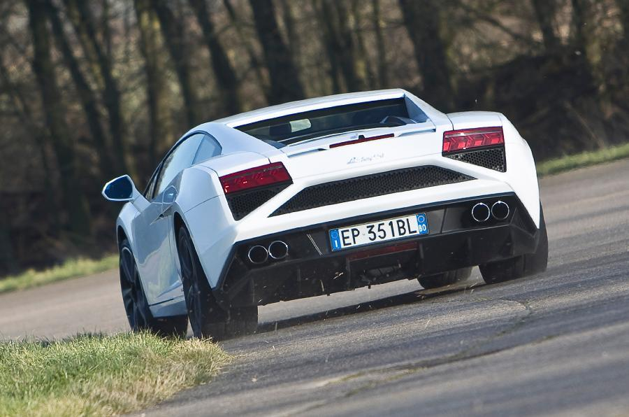 The 561bhp Lamborghini Gallardo LP560-4 cornering