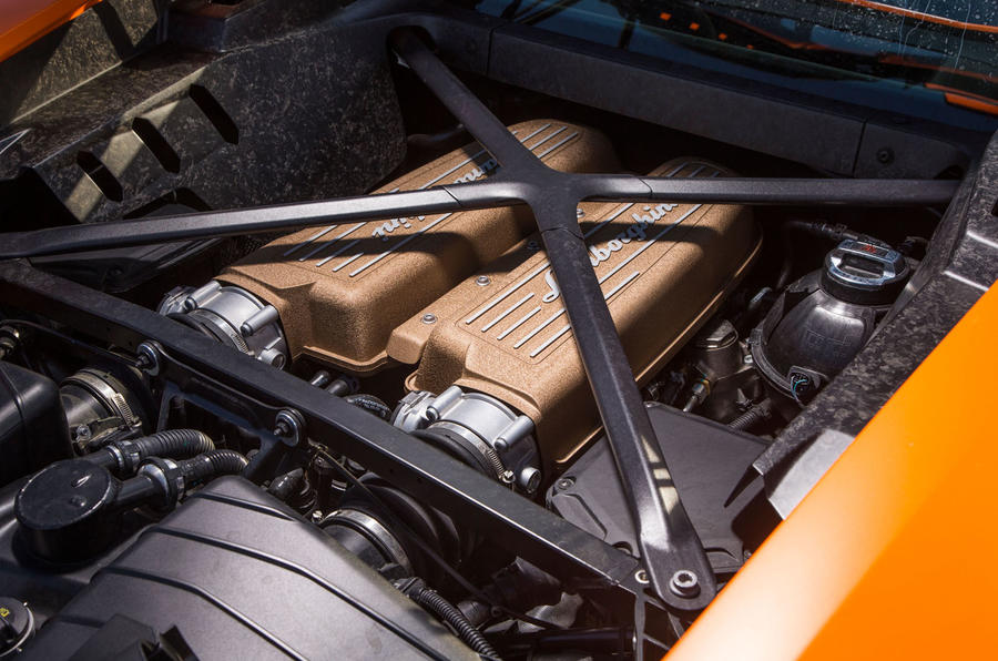 5.2-litre V10 Lamborghini Huracán Performante engine