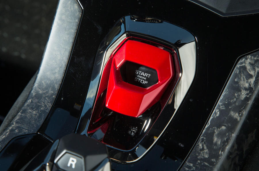 Lamborghini Huracán Performante ignition switch
