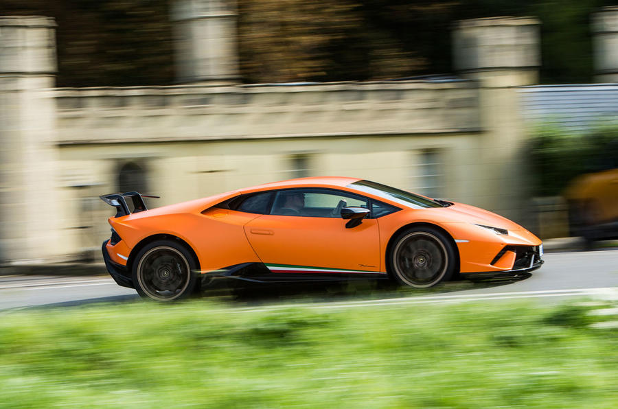Lamborghini Huracán Performante on the road