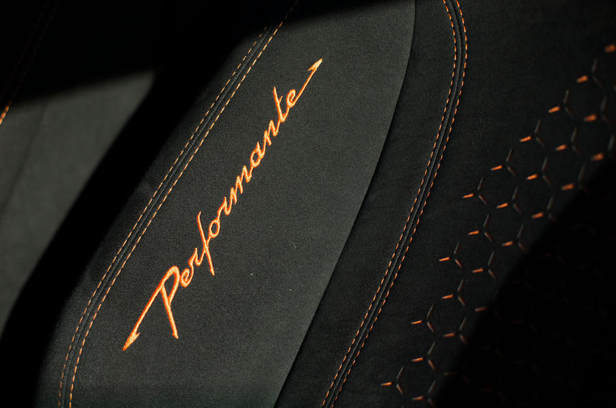 Lamborghini Huracán Performante orange stitched seats