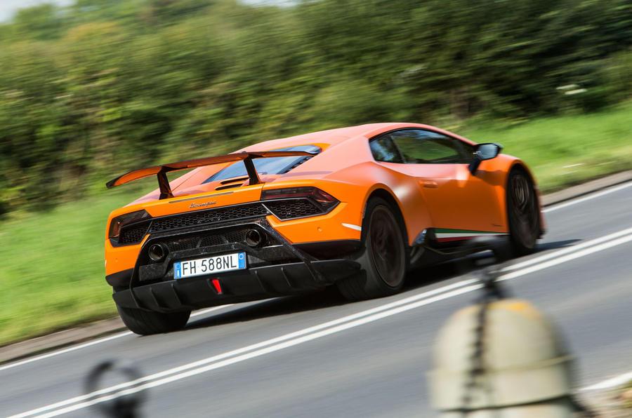 Lamborghini Huracán Performante rear quarter