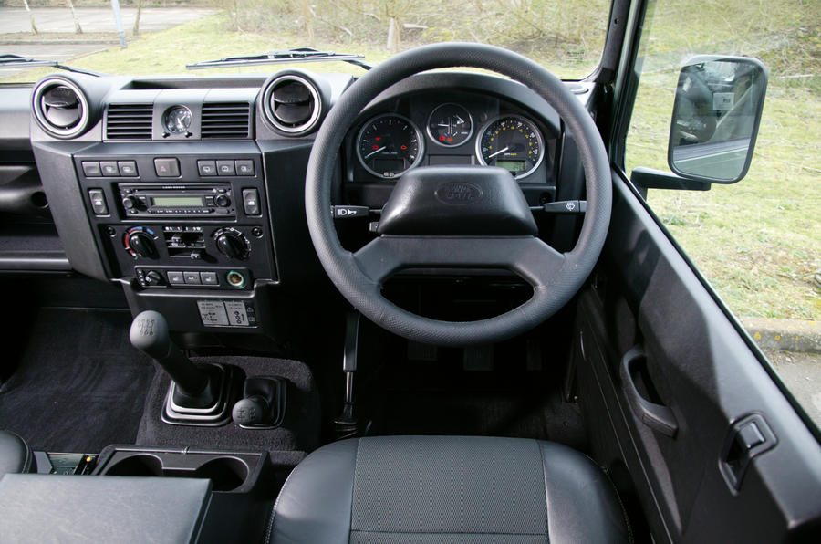 Land Rover Defender's dashboard