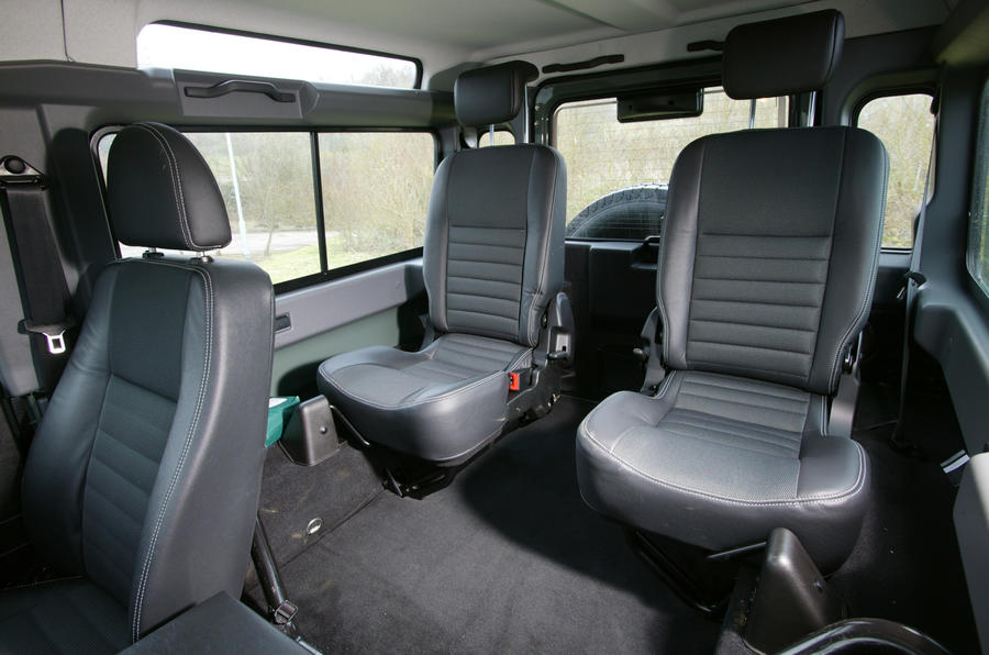 Rear seats in the Defender