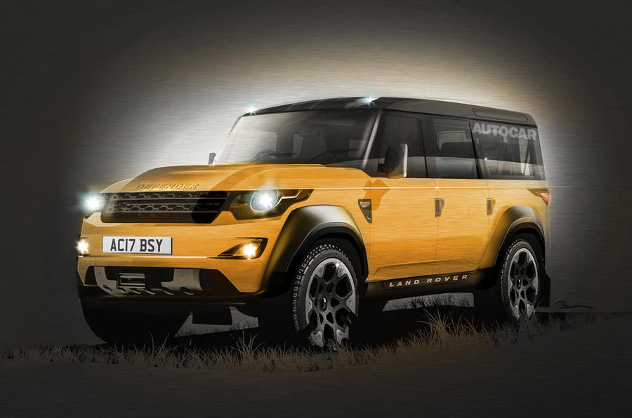 new land rover defender to launch in 2018 autocar. Black Bedroom Furniture Sets. Home Design Ideas
