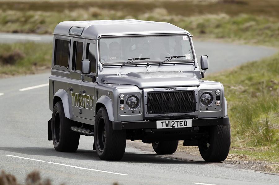 Land Rover Defender Twisted cornering