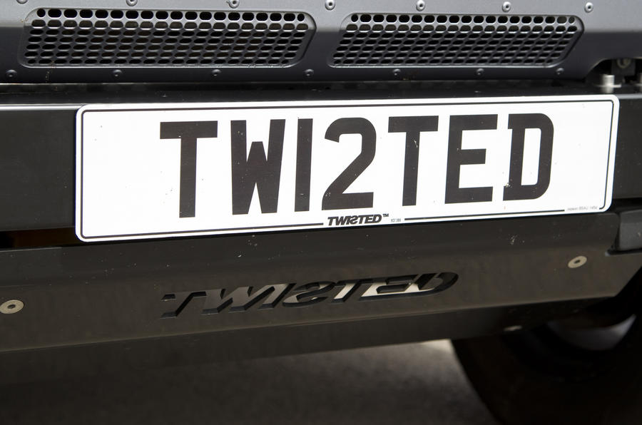 Land Rover Defender Twisted personalised numberplate