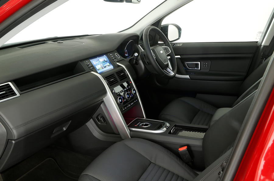 A look inside the Discovery Sport's cabin from the passenger's point of view