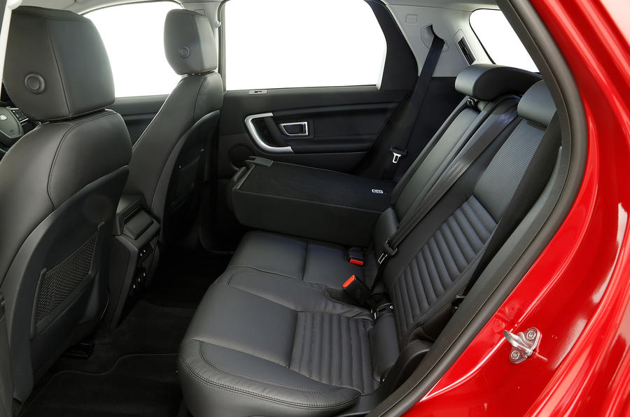The rear seats in the Land Rover Discovery Sport