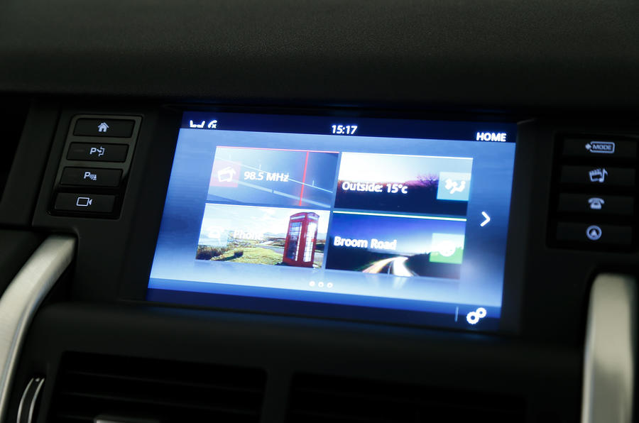 Land Rover's infotainment system in the Discovery Sport