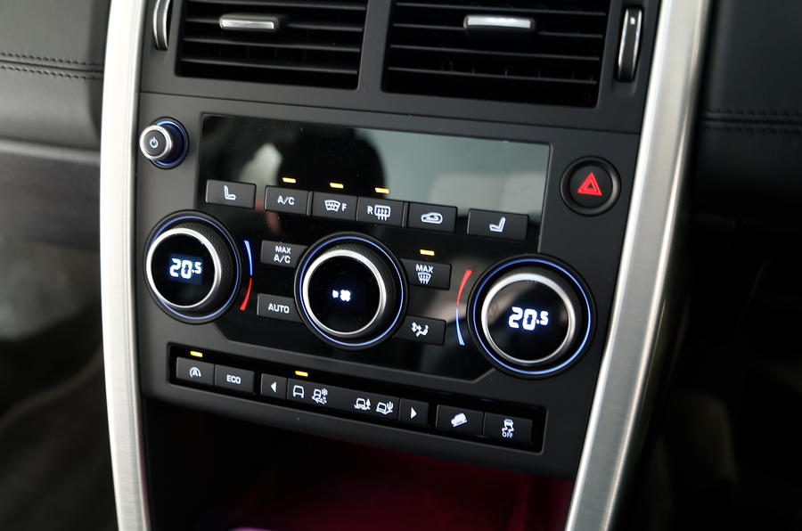 The Land Rover Discovery Sport's centre console