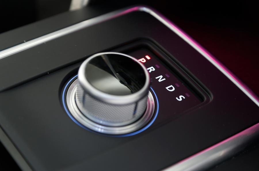 The rotary gear selector in synonymous of JLR in the Discovery Sport