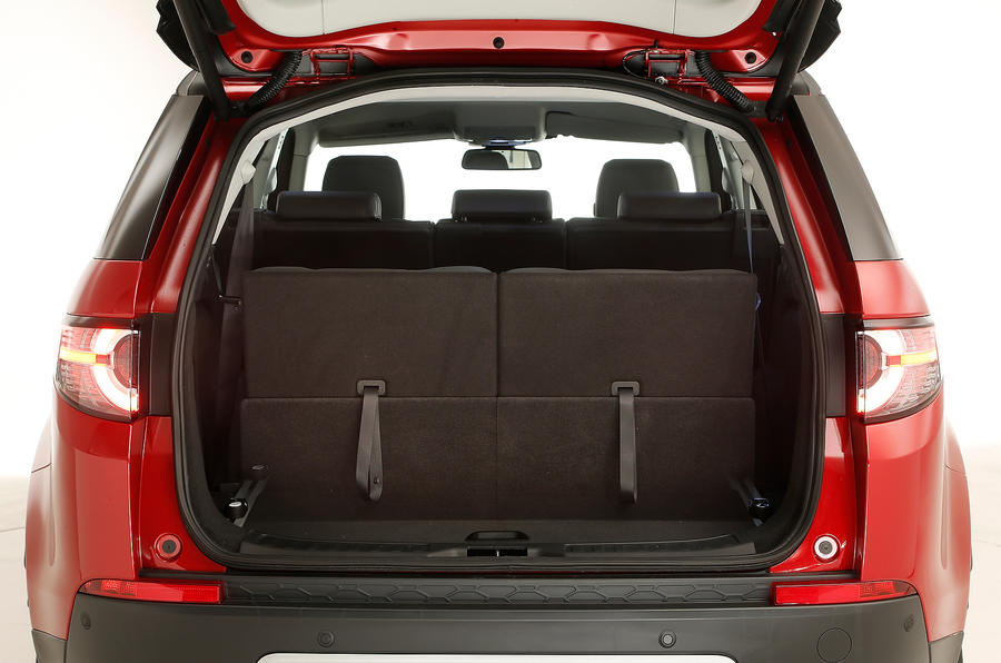 The boot of the Discovery Sport houses two more jump seats