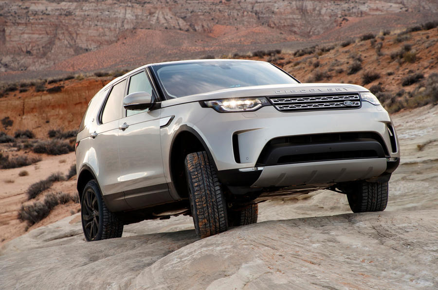 Land Rover Discovery traversing off-road