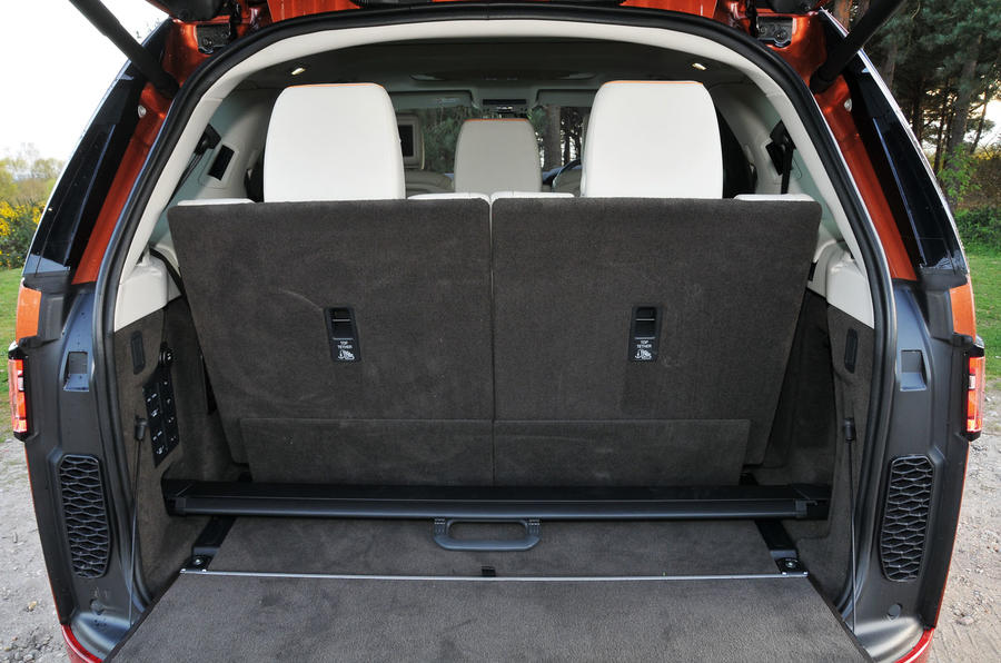 Land Rover Discovery full capacity boot space