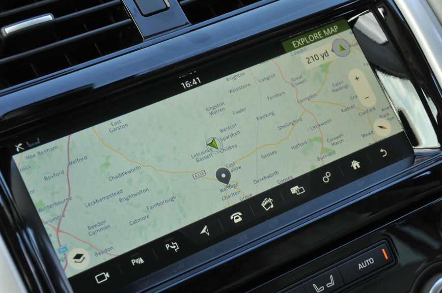 Land Rover Discovery infotainment system