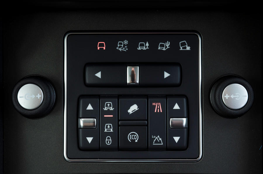 Land Rover Discovery terrain response controls